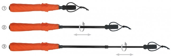 EuroSchirm 'teleScope handsfree' orange