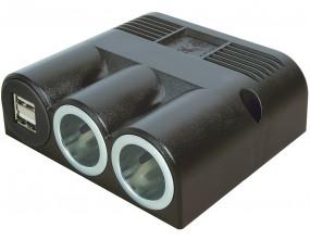 Aufbau Dreifachsteckdose 12 Volt mit USB und 2x Powersteckdose 2500 mA