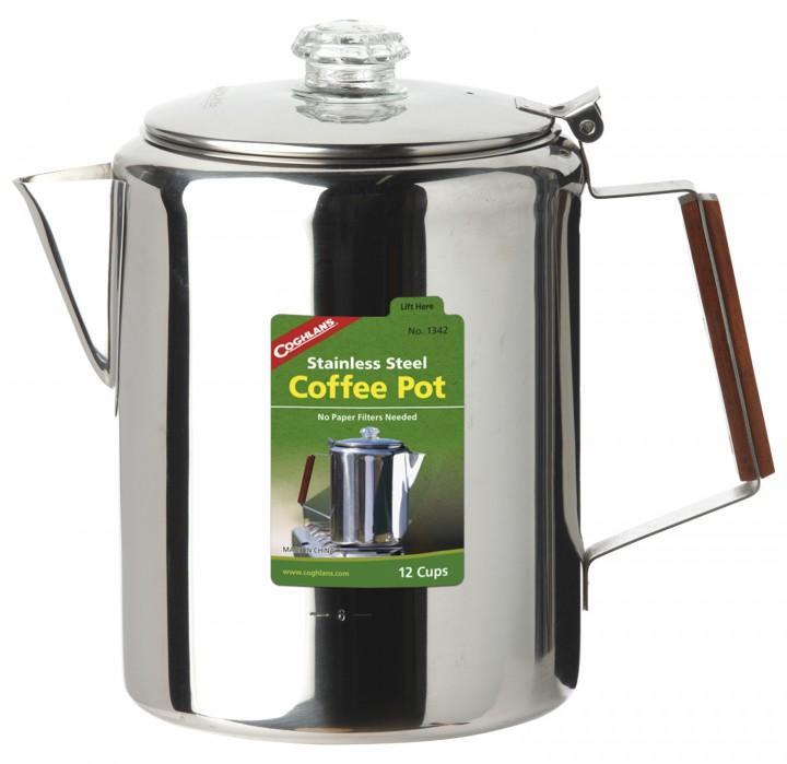 Coghlans Edelstahlkanne Coffee Pot 12 Tassen