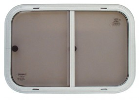 Sicherheitsglas Schiebefenster für Kastenwagen Rahmen weiß