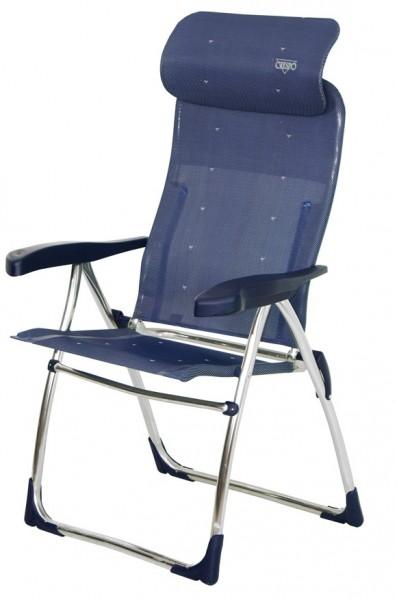 Klappstuhl Compact Rundrohr blau