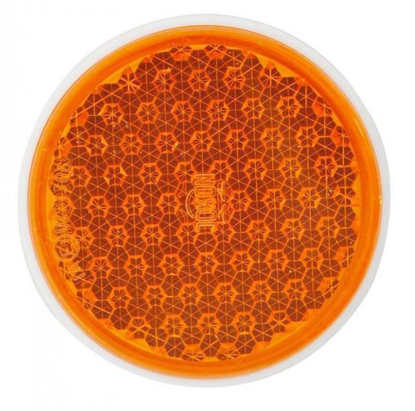Reflektor R16 rund selbstklebend orange
