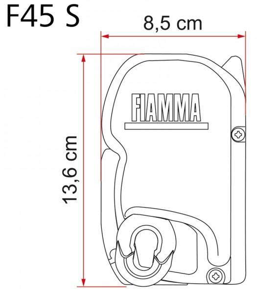 Fiammastore ® F45 S 260 Polarweiß deluxe grey
