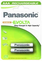 Panasonic Akku 'Evolta', geladen AAA, 2 Stück