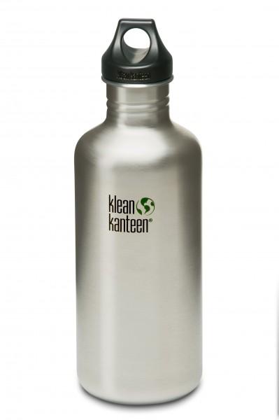 Klean Kanteen Flasche 'Classic' Loop Cap edelstahl, 1,182 L