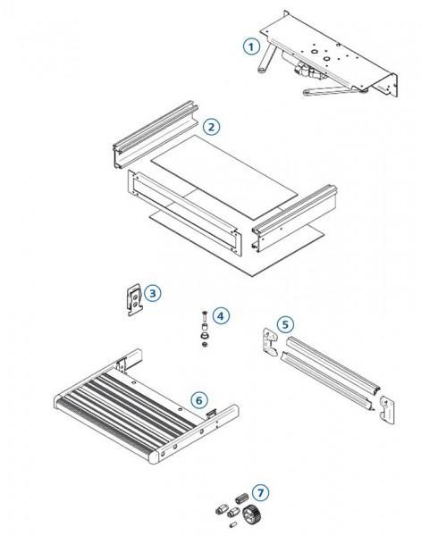 Positionierungsplatte Omnistep Slide-Out