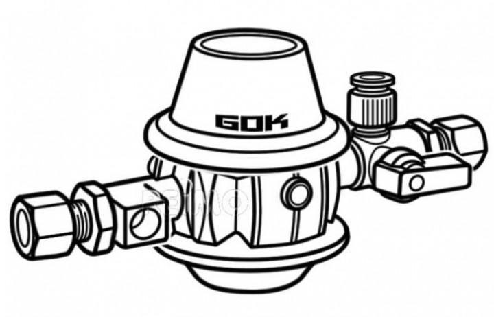 Druckregler RVS-RVS 30mbar