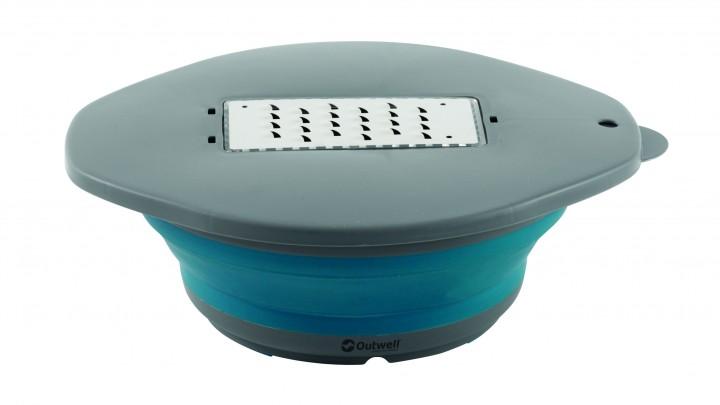 Outwell Schüssel mit Reibe Collaps blau