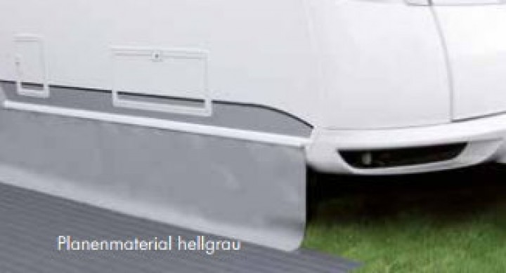 Bodenschürze Premium Höhe 75 cm hellgrau-dunkelgrau lfd. Meter