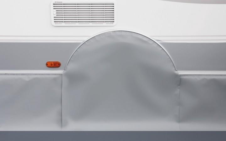 Radkastenabdeckung für Eriba-Wohnwagen, hellgrau