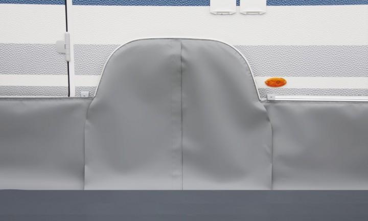 Radkastenabdeckung für Knaus-Tandem-Wohnwagen ab Baujahr 2005, hellgrau