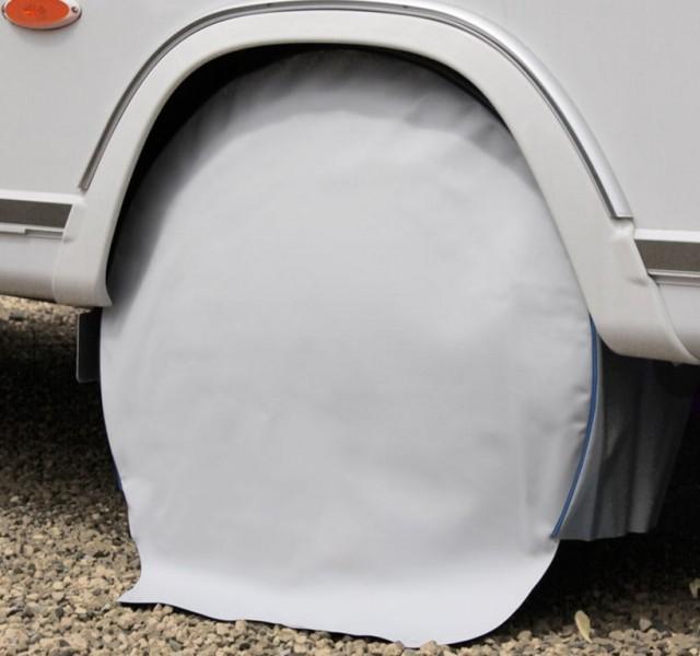 Radschutzhülle für Reisemobile 16 Zoll hellgrau