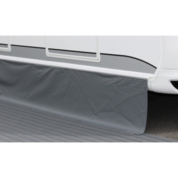 Bodenschürze Premium hellgrau-dunkelgrau 4 x 0,75 m