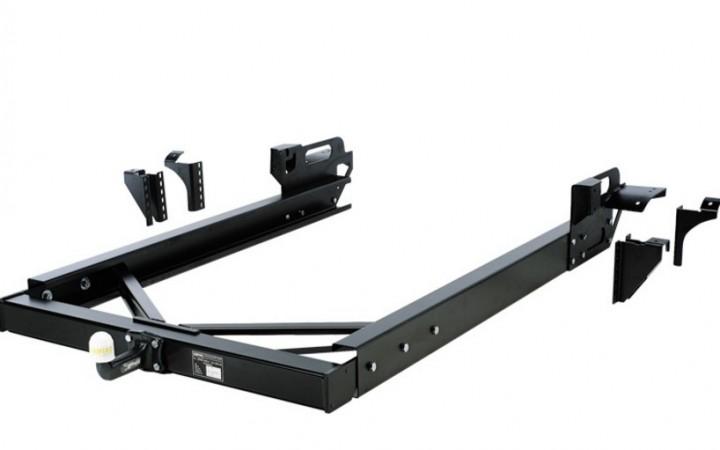 Anhängekupplung für Wohnmobile mit nicht tragfähigem AL-KO-Chassis / Rahmenverlängerung