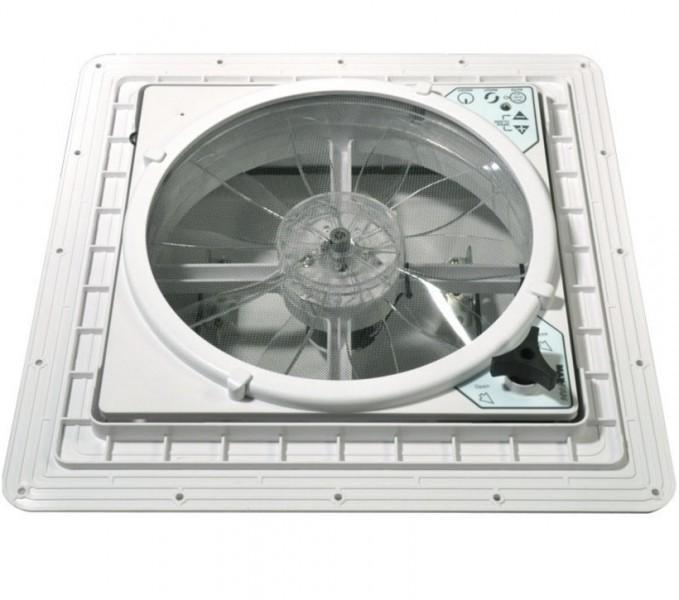 Dachventilator MaxxFan Deluxe 40 x 40 cm Haube rauchfarben