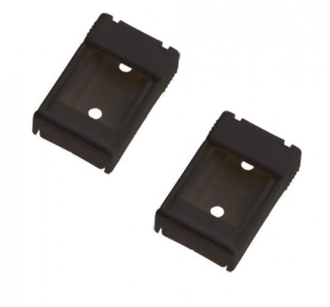 Thule Omnistor Stützfußhalter für Fahrzeugwand 2 Stück schwarz