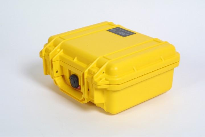 Pelibox 1200 gelb mit Schaumeinsatz