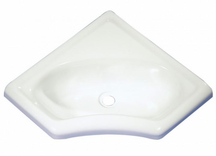 Eckwaschbecken Mini weiß glänzend