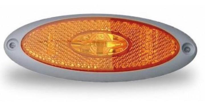 LED-Seitenmarkierungsleuchte grau