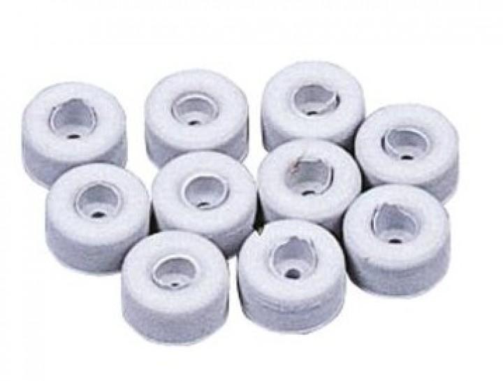 Gummidämpfer hellgrau 10 Stück