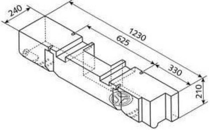 Frisch-Abwassertank VW T4 ab Bj. 7/90