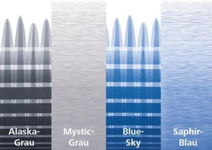 Thule Omnistor 5200 weiß Länge 4,5 x 2,5 m Saphir-Blau