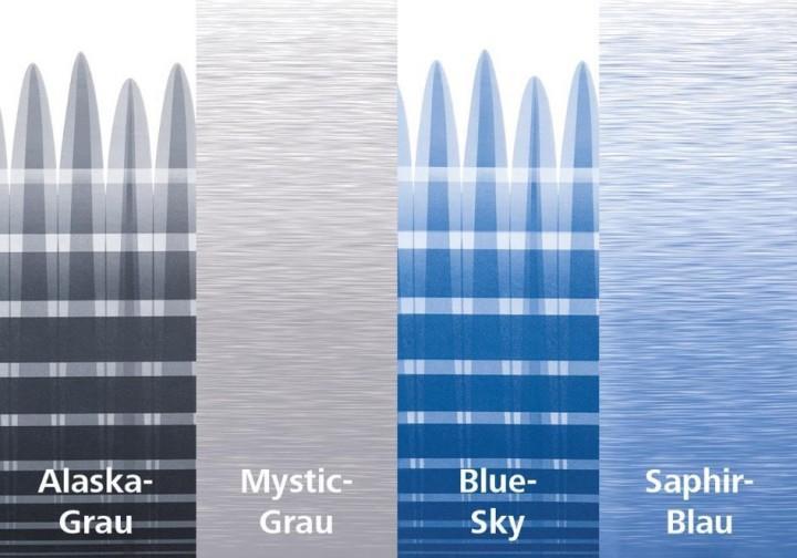 Thule Omnistor 8000 Gehäuse eloxiert 4,50 x 2,75m Blue-Sky