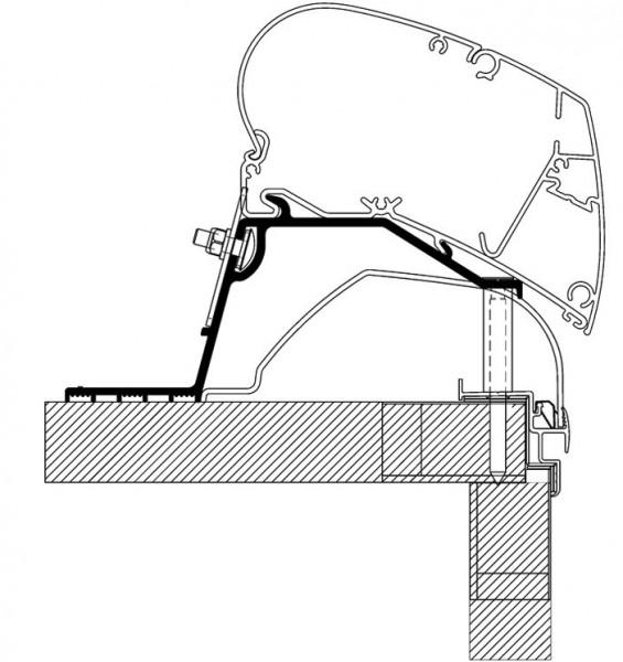 Adapter Rooftop für Hobby Wohnwagen ab Bj. 2014