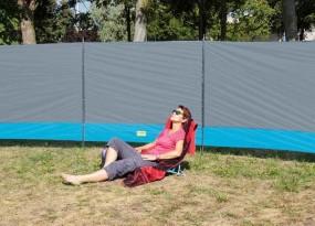 Windschutz Sylt 500x140 cm grau