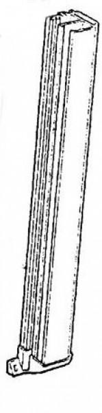 Führungsschiene mit Endkappe 700 mm alu beige für Rastrollo 2000