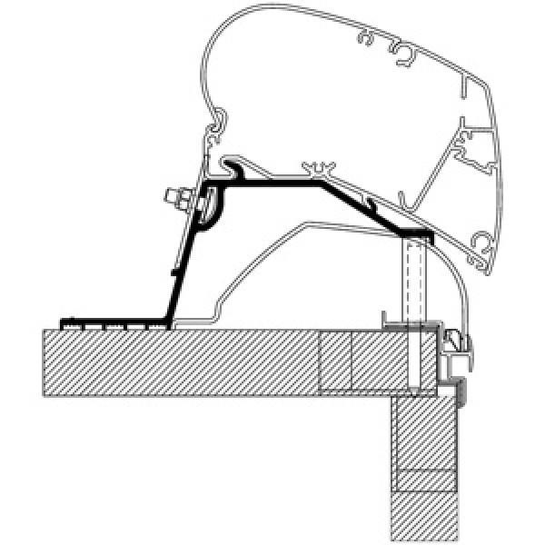 Rooftop-Adapter für Eriba Nova Wohnwagen 2013, Länge 6 m