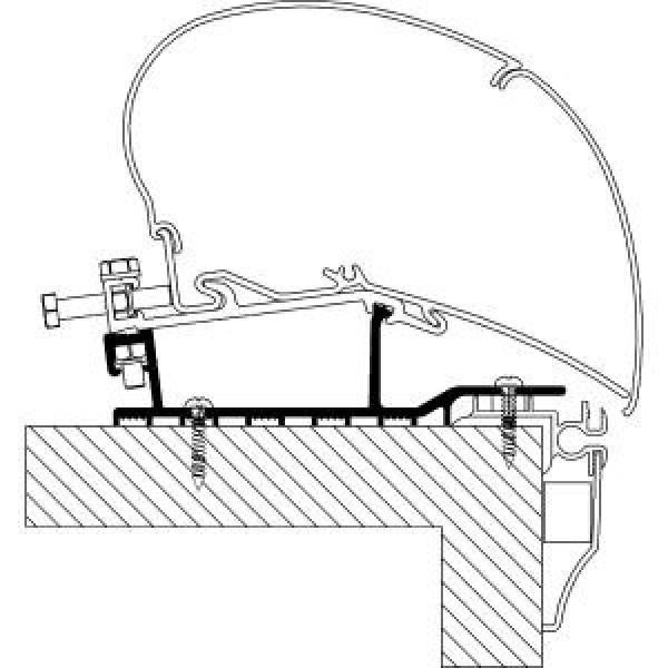 Rooftop-Adapter für Eriba Nova Wohnwagen 2013, Länge 4 m
