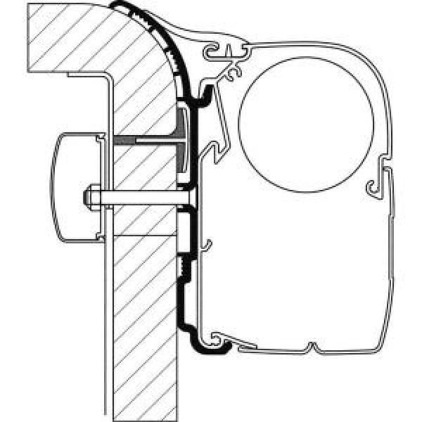 Adapter-Set Dethleffs Globebus für Thule Omnistor 5003, Länge 3,5 m