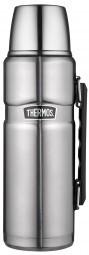 Thermos Isolierflasche 'King' 1,2 Liter, edelstahl