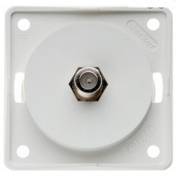 Berker Antennen-Steckdose SAT weiß