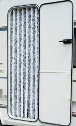 Flauschvorhang 56x205 cm grau/weiß für Reisemobile
