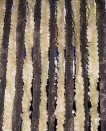 Flauschvorhang 56x205 braun/beige für Reisemobile