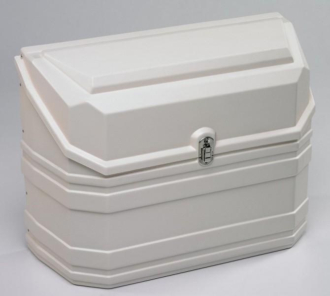 Gaskasten aus Kunststoff weiß