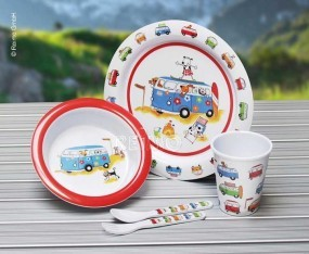 Melamin Kindergeschirr Set Harry and friend