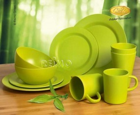Bambus Geschirr-Set Lugo Lime 10-teilig