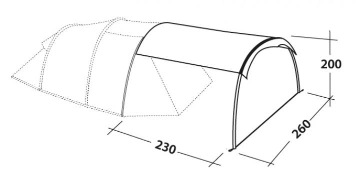Robens 'Shade Catcher' Zeltvorbau für Robens Adventurezelte