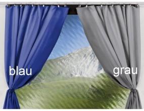 Gardinen für Thule Panorama Markisenlänge 4–5 m Blau