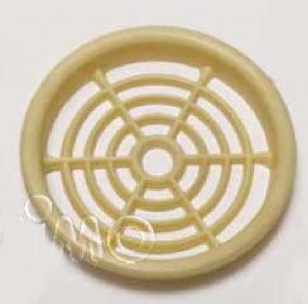 Möbellüftungsgitter 60 mm rund creme