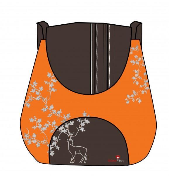 Grüezi-Bag Kultursackerl orange
