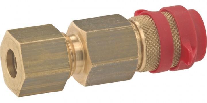 Gasschnellkupplung mit Stecktülle 8 mm