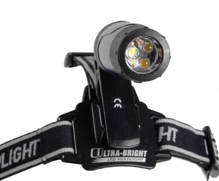 Relags LED 'Clip' Leuchte, mit Stirnband transparent, schwarz