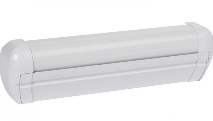 Wandmarkise Dometic PerfectWall PW 3500 mit Motor 4,74 x 2,5 m Gehäuse weiß Tuch Silber