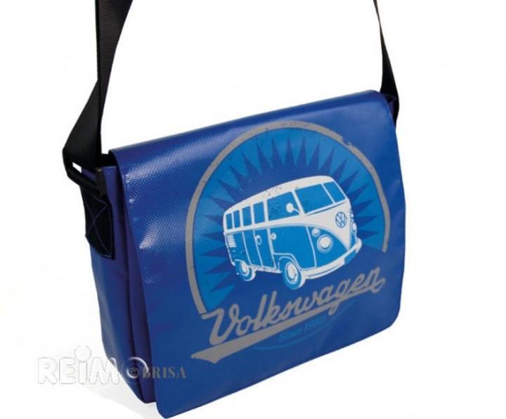 VW Collection Schultertasche Bulli blau