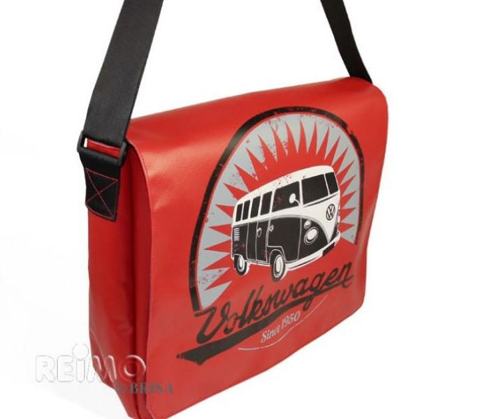 VW Collection Schultertasche Bulli rot für Laptop