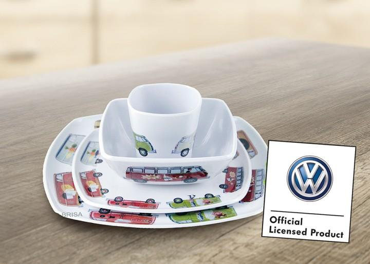 VW Collection Melamin Geschirr Set 4-teilig
